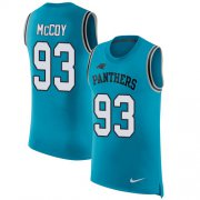 Wholesale Cheap Nike Panthers #93 Gerald McCoy Blue Alternate Men's Stitched NFL Limited Rush Tank Top Jersey
