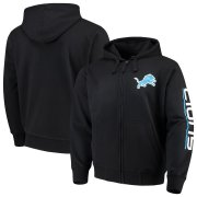 Wholesale Cheap Detroit Lions G-III Sports by Carl Banks Post Route Full-Zip Hoodie Black