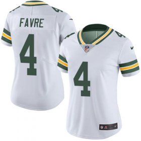 Wholesale Cheap Nike Packers #4 Brett Favre White Women\'s Stitched NFL Vapor Untouchable Limited Jersey