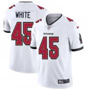 Wholesale Cheap Tampa Bay Buccaneers #45 Devin White Men's Nike White Vapor Limited Jersey