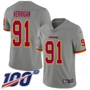 Wholesale Cheap Nike Redskins #91 Ryan Kerrigan Gray Men's Stitched NFL Limited Inverted Legend 100th Season Jersey