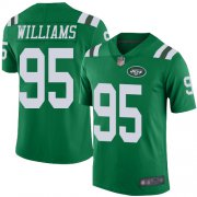 Wholesale Cheap Nike Jets #95 Quinnen Williams Green Men's Stitched NFL Limited Rush Jersey
