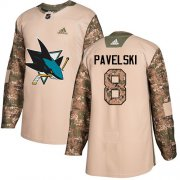 Wholesale Cheap Adidas Sharks #8 Joe Pavelski Camo Authentic 2017 Veterans Day Stitched Youth NHL Jersey