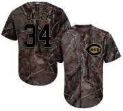 Wholesale Cheap Reds #34 Homer Bailey Camo Realtree Collection Cool Base Stitched Youth MLB Jersey
