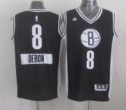 Wholesale Cheap Brooklyn Nets #8 Deron Williams Revolution 30 Swingman 2014 Christmas Day Black Jersey