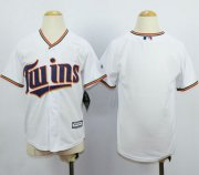 Wholesale Cheap Twins Blank White Cool Base Stitched Youth MLB Jersey