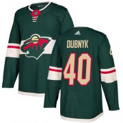 Wholesale Cheap Adidas Wild #40 Devan Dubnyk Green Home Authentic Stitched Youth NHL Jersey