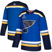 Wholesale Cheap Adidas Blues Blank Blue Home Authentic Stanley Cup Champions Stitched NHL Jersey
