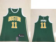 Wholesale Cheap Men's Boston Celtics Kyrie #11 Irving Nike Green 2018/19 Swingman Earned Edition Jersey