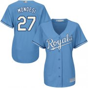 Wholesale Cheap Royals #27 Raul Mondesi Light Blue Alternate Women's Stitched MLB Jersey