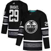 Wholesale Cheap Adidas Oilers #29 Leon Draisaitl Black Authentic 2019 All-Star Stitched NHL Jersey