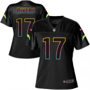 Wholesale Cheap Nike Chargers #17 Philip Rivers Black Women's NFL Fashion Game Jersey