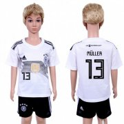 Wholesale Cheap Germany #13 Muller White Home Kid Soccer Country Jersey