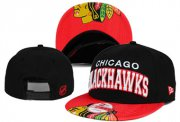 Wholesale Cheap NHL Chicago Blackhawks Team Logo Black Snapback Adjustable Hat