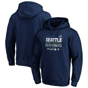 Wholesale Cheap Seattle Seahawks 2019 NFL Playoffs Bound Hometown Checkdown Pullover Hoodie College Navy