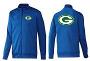 Wholesale Cheap NFL Green Bay Packers Team Logo Jacket Blue_1