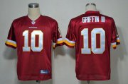 Wholesale Cheap Redskins #10 Robert Griffin III Red Stitched NFL Jersey