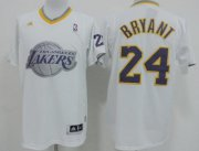 Wholesale Cheap Los Angeles Lakers #24 Kobe Bryant Revolution 30 Swingman 2013 Christmas Day White Jersey