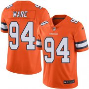 Wholesale Cheap Nike Broncos #94 DeMarcus Ware Orange Youth Stitched NFL Limited Rush Jersey