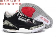Wholesale Cheap Air Jordan 3 Big Size 14 15 16 Black/Cement grey-white-red