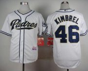 Wholesale Cheap Padres #46 Craig Kimbrel White Cool Base Stitched MLB Jersey
