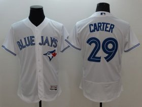 Wholesale Cheap Blue Jays #29 Joe Carter White Flexbase Authentic Collection Stitched MLB Jersey