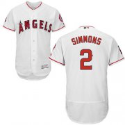 Wholesale Cheap Angels of Anaheim #2 Andrelton Simmons White Flexbase Authentic Collection Stitched MLB Jersey