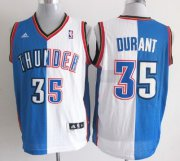 Wholesale Cheap Oklahoma City Thunder #35 Kevin Durant Revolution 30 Swingman Blue/White Two Tone Jersey