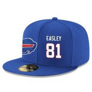 Wholesale Cheap Buffalo Bills #81 Marcus Easley Snapback Cap NFL Player Royal Blue with White Number Stitched Hat