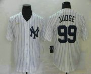 Wholesale Cheap Men's New York Yankees #99 Aaron Judge White Throwback Stitched MLB Cool Base Nike Jersey