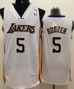 Wholesale Cheap Los Angeles Lakers #5 Carlos Boozer White Swingman Jersey