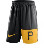 Wholesale Cheap Men's Pittsburgh Pirates Nike Black Cooperstown Collection Dry Fly Shorts