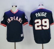 Wholesale Cheap Indians #29 Satchel Paige Navy Blue 1976 Turn Back The Clock Stitched MLB Jersey