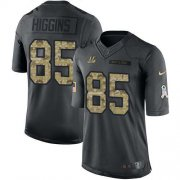 Wholesale Cheap Nike Bengals #85 Tee Higgins Black Youth Stitched NFL Limited 2016 Salute to Service Jersey