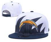 Wholesale Cheap Chargers Team Logo Navy White Adjustable Hat