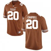 Wholesale Cheap Men's Texas Longhorns 20 Earl Campbell Orange Nike College Jersey