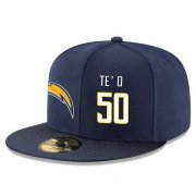 Wholesale Cheap San Diego Chargers #50 Manti Te'o Snapback Cap NFL Player Navy Blue with White Number Stitched Hat