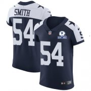 Wholesale Cheap Nike Cowboys #54 Jaylon Smith Navy Blue Thanksgiving Men's Stitched With Established In 1960 Patch NFL Vapor Untouchable Throwback Elite Jersey