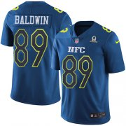 Wholesale Cheap Nike Seahawks #89 Doug Baldwin Navy Men's Stitched NFL Limited NFC 2017 Pro Bowl Jersey