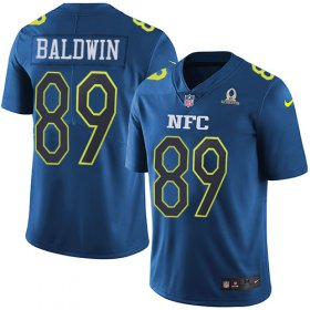 Wholesale Cheap Nike Seahawks #89 Doug Baldwin Navy Men\'s Stitched NFL Limited NFC 2017 Pro Bowl Jersey