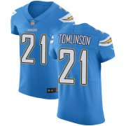 Wholesale Cheap Nike Chargers #21 LaDainian Tomlinson Electric Blue Alternate Men's Stitched NFL Vapor Untouchable Elite Jersey