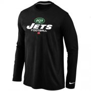 Wholesale Cheap Nike New York Jets Critical Victory Long Sleeve T-Shirt Black