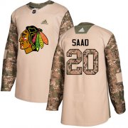 Wholesale Cheap Adidas Blackhawks #20 Brandon Saad Camo Authentic 2017 Veterans Day Stitched NHL Jersey