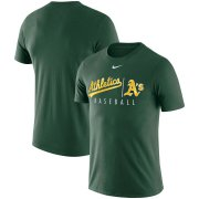 Wholesale Cheap Oakland Athletics Nike MLB Practice T-Shirt Green