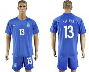 Wholesale Cheap Greece #13 Vellidis Away Soccer Country Jersey