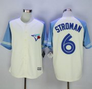 Wholesale Cheap Blue Jays #6 Marcus Stroman Cream/Blue Exclusive New Cool Base Stitched MLB Jersey