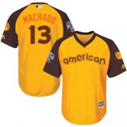 Wholesale Cheap Orioles #13 Manny Machado Gold 2016 All-Star American League Stitched Youth MLB Jersey