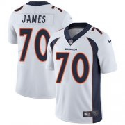 Wholesale Cheap Nike Broncos #70 Ja'Wuan James White Men's Stitched NFL Vapor Untouchable Limited Jersey