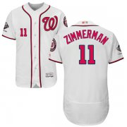 Wholesale Cheap Nationals #11 Ryan Zimmerman White Flexbase Authentic Collection 2019 World Series Champions Stitched MLB Jersey