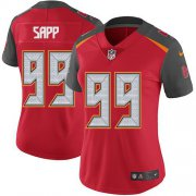 Wholesale Cheap Nike Buccaneers #99 Warren Sapp Red Team Color Women's Stitched NFL Vapor Untouchable Limited Jersey